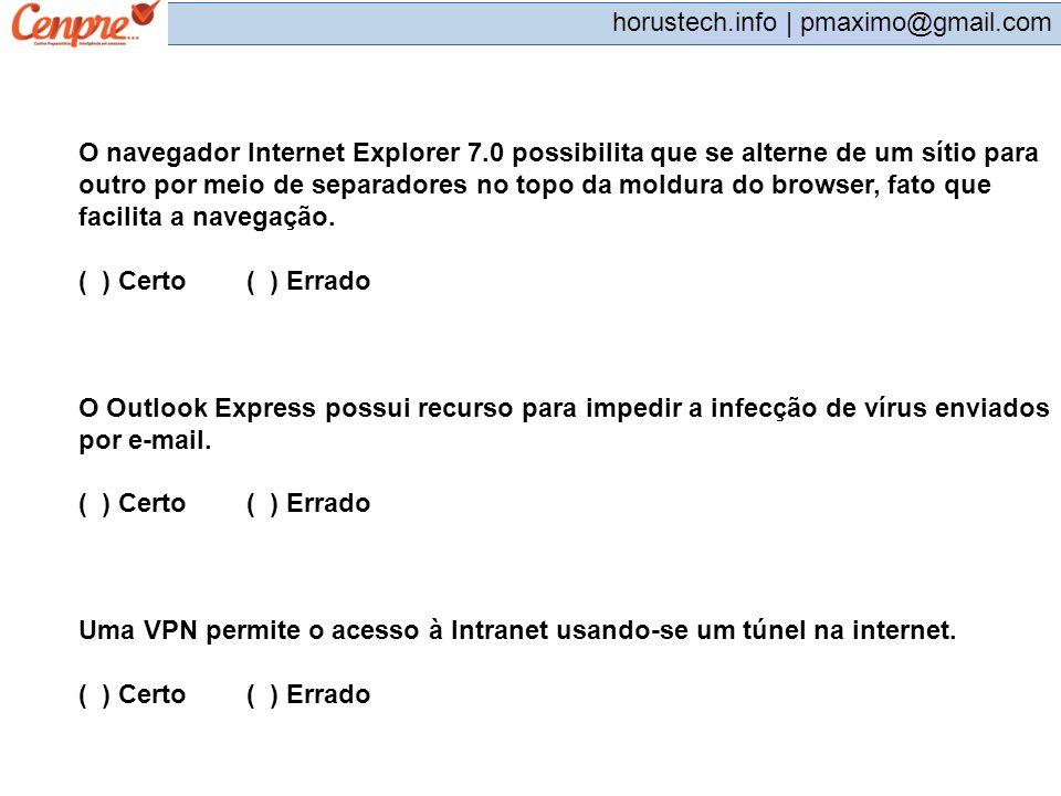 O navegador Internet Explorer 7