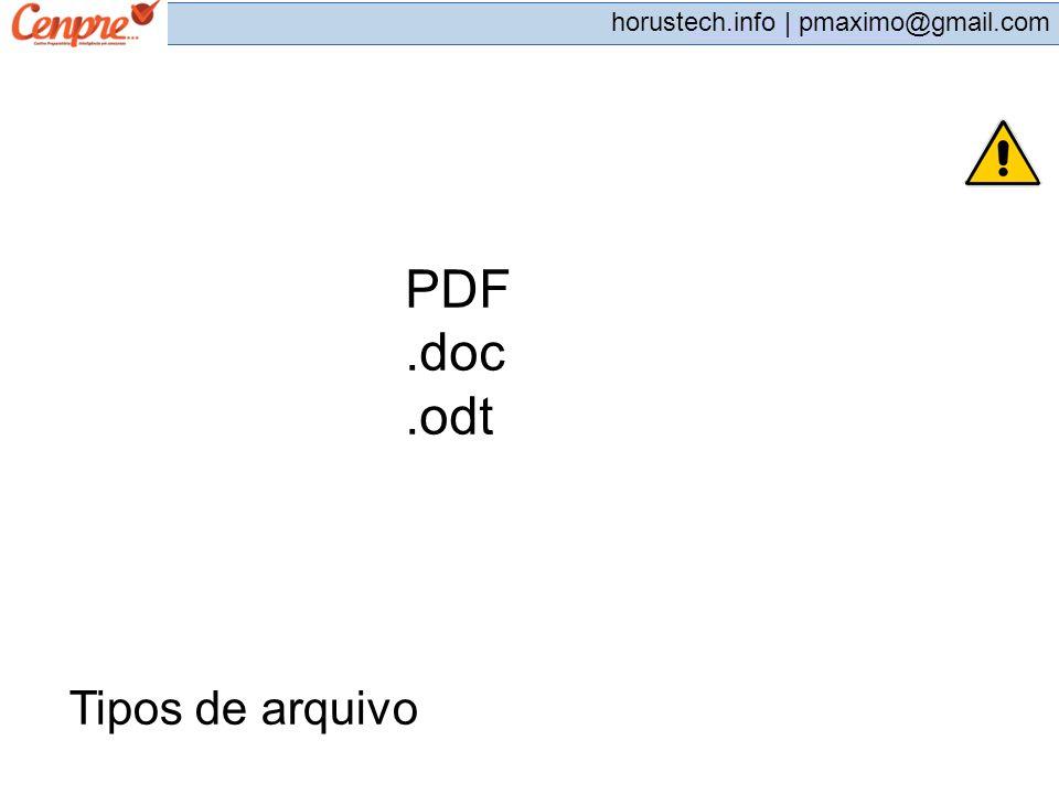 PDF .doc .odt Tipos de arquivo 201