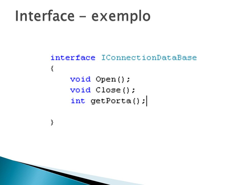 Interface - exemplo