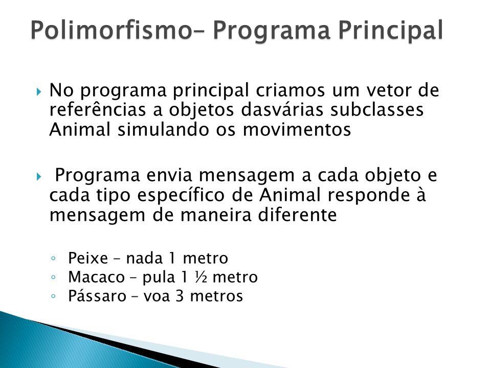 Polimorfismo– Programa Principal