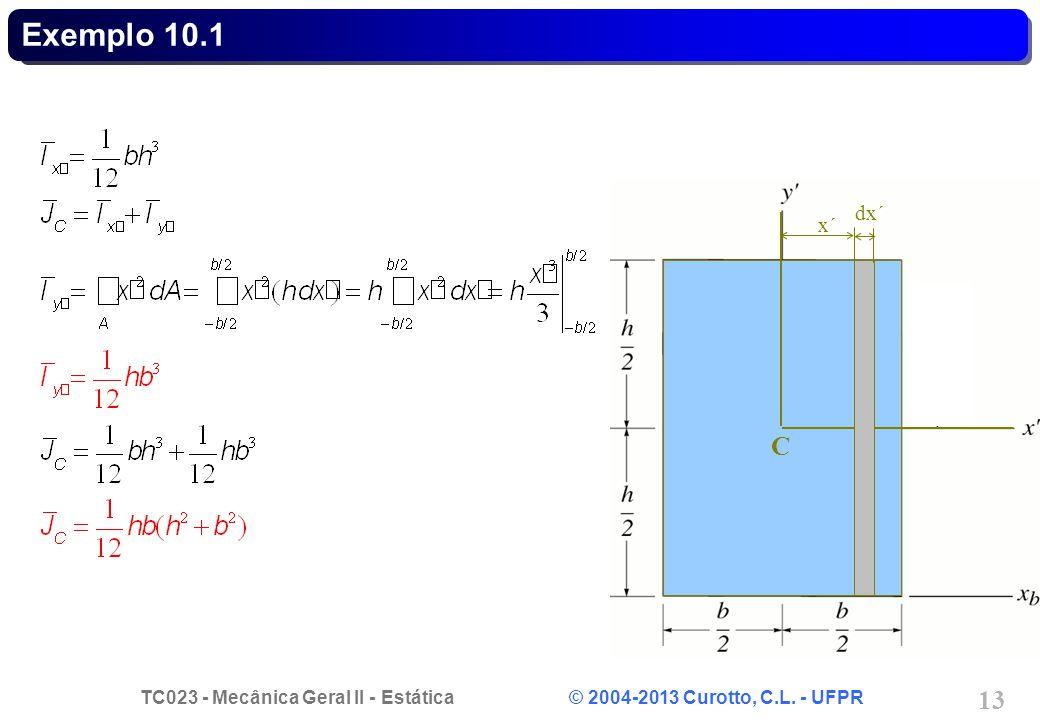 Exemplo 10.1 C dx´ x´
