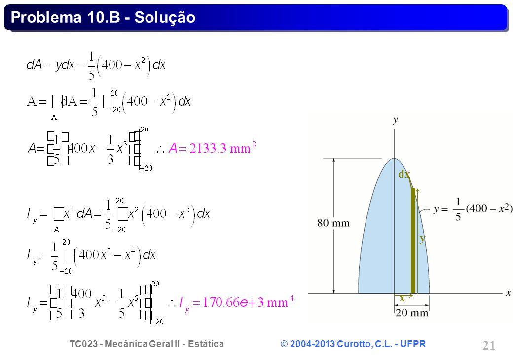 Problema 10.B - Solução dx y x