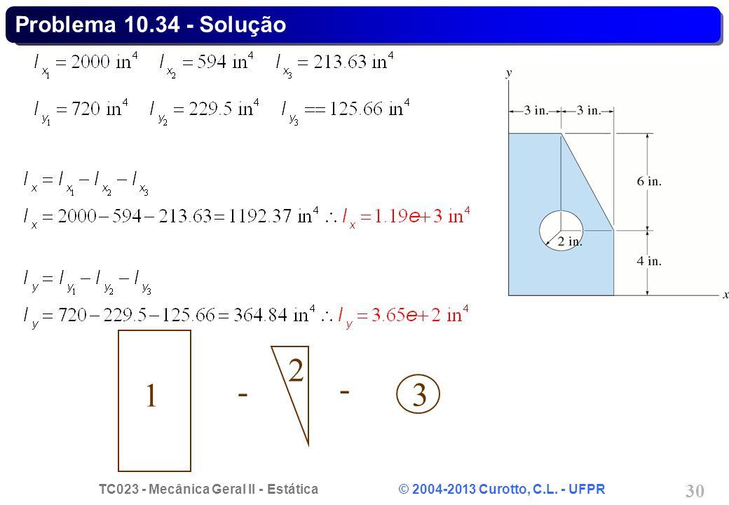 Problema 10.34 - Solução - 1 3 2