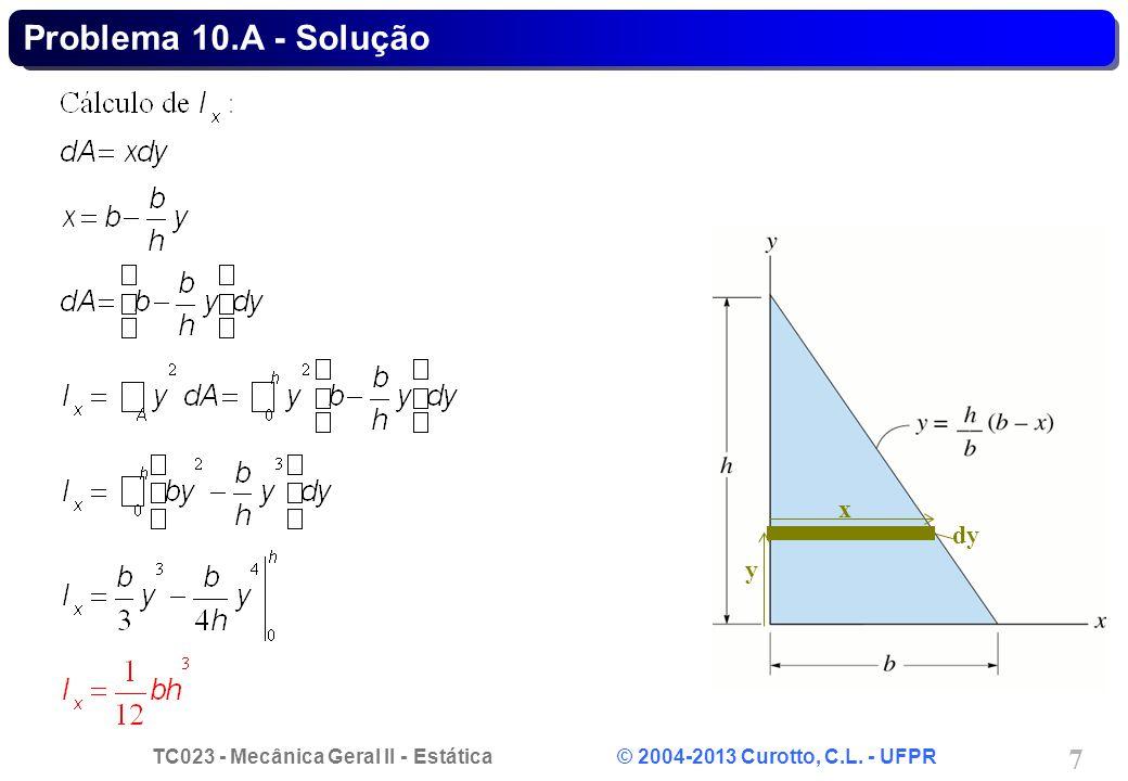 Problema 10.A - Solução dy x y