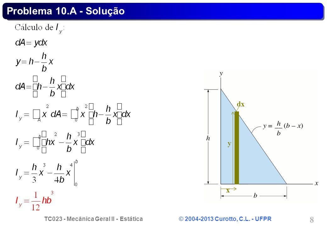 Problema 10.A - Solução dx x y