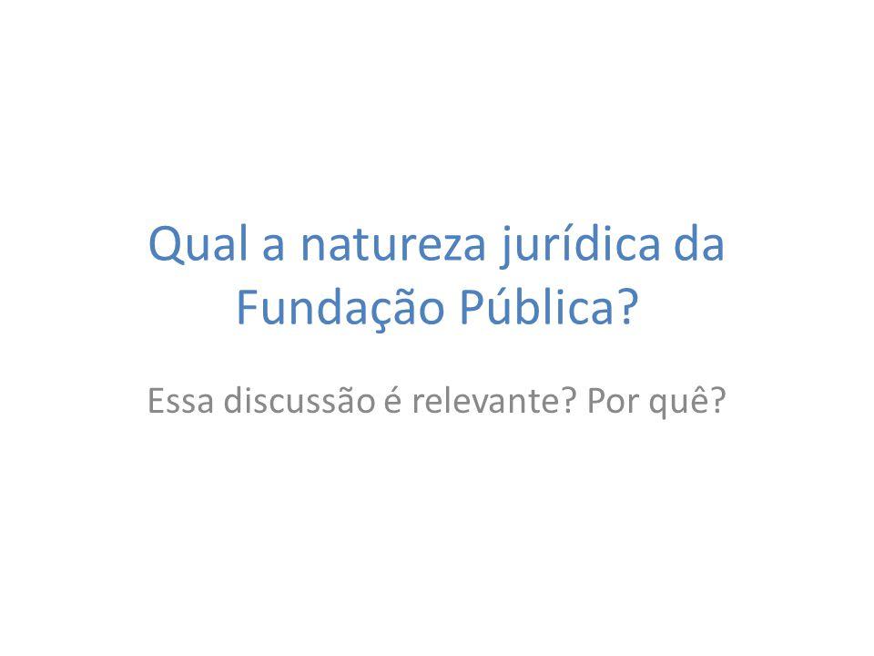 Qual a natureza jurídica da Fundação Pública