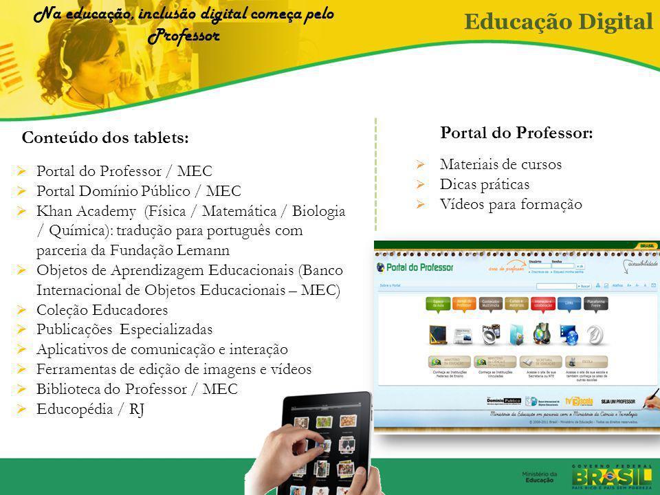 Na educação, inclusão digital começa pelo Professor