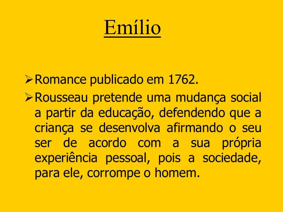 Emílio Romance publicado em 1762.