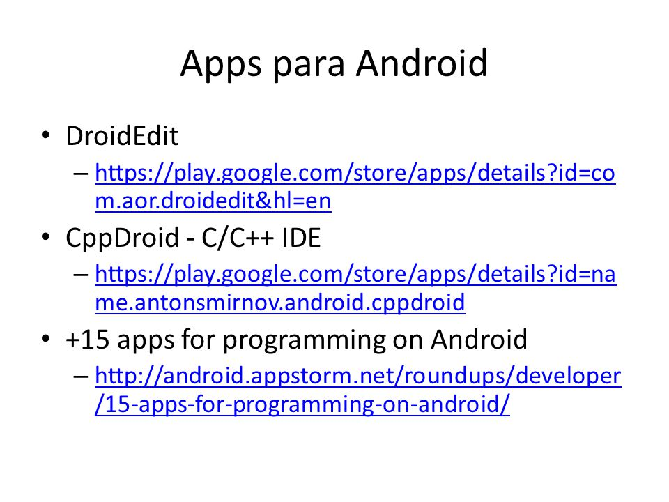 Apps para Android DroidEdit CppDroid - C/C++ IDE