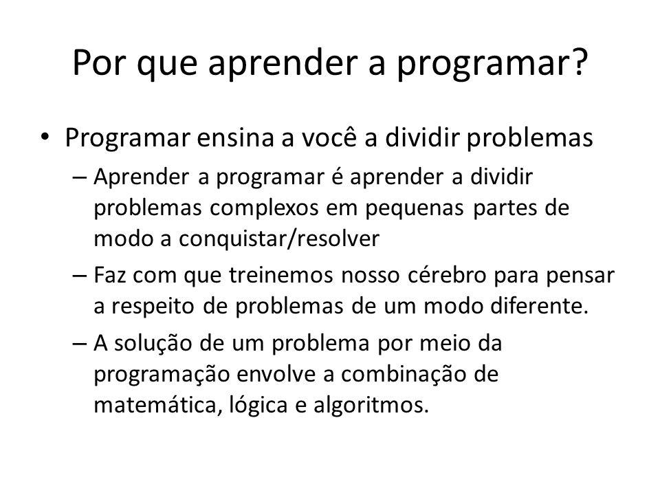 Por que aprender a programar