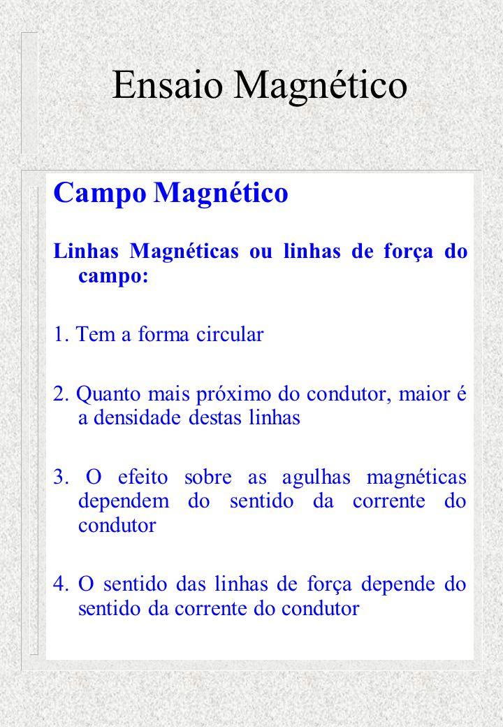 Ensaio Magnético Campo Magnético