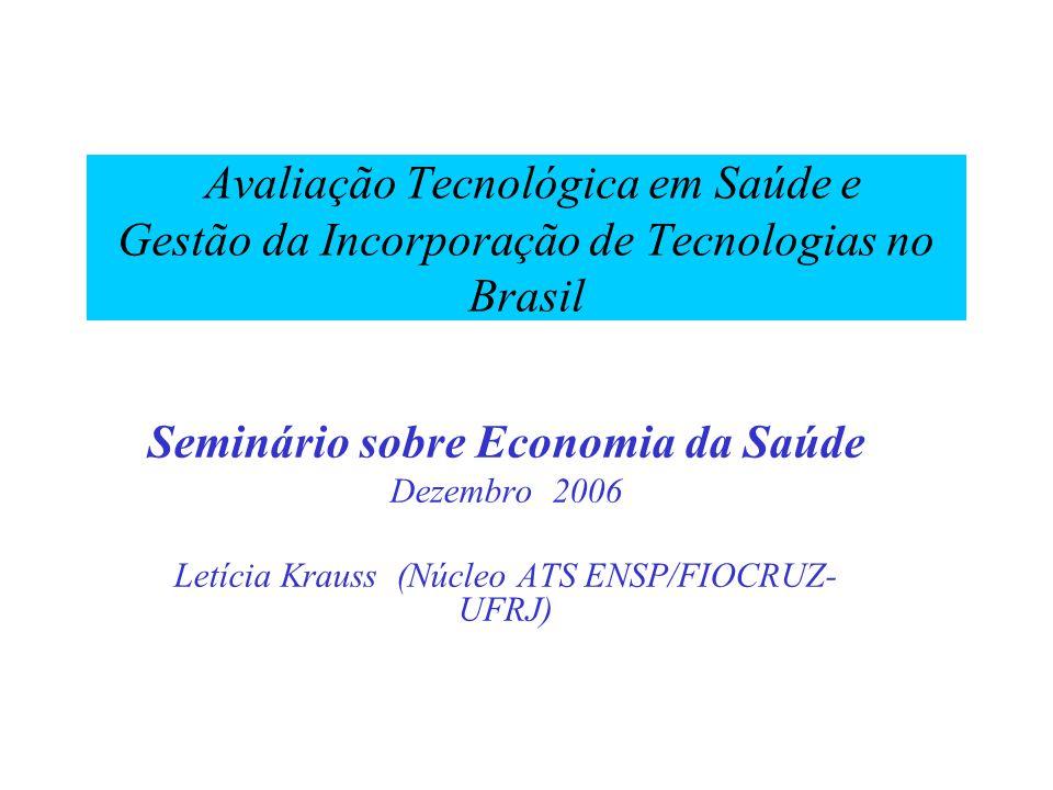 Seminário sobre Economia da Saúde