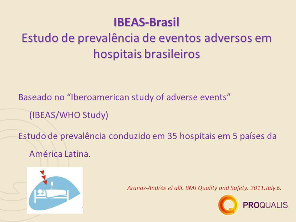 Baseado no Iberoamerican study of adverse events (IBEAS/WHO Study)