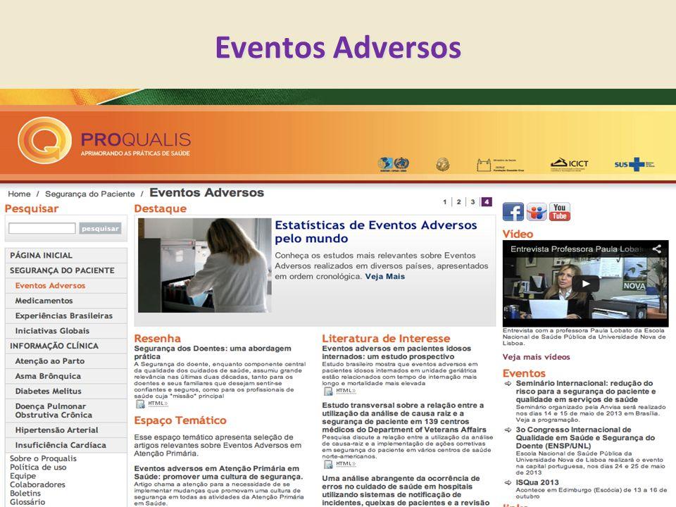 Eventos Adversos Permite mostrar resenha e eventos