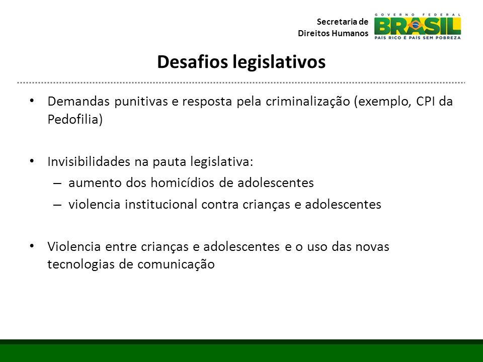 Desafios legislativos