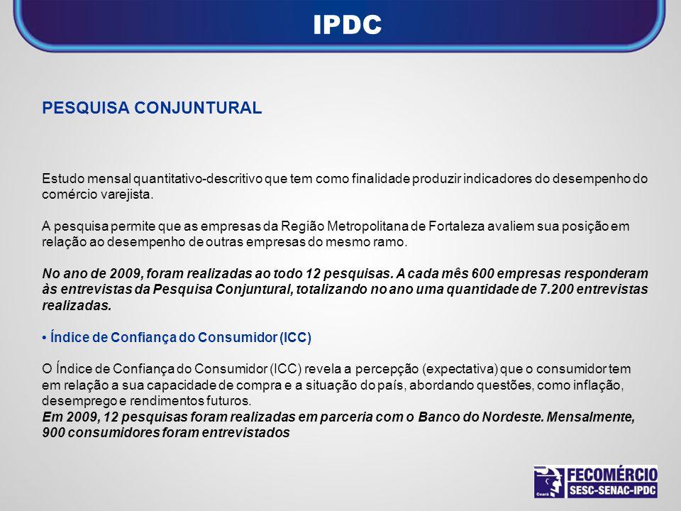 IPDC PESQUISA CONJUNTURAL