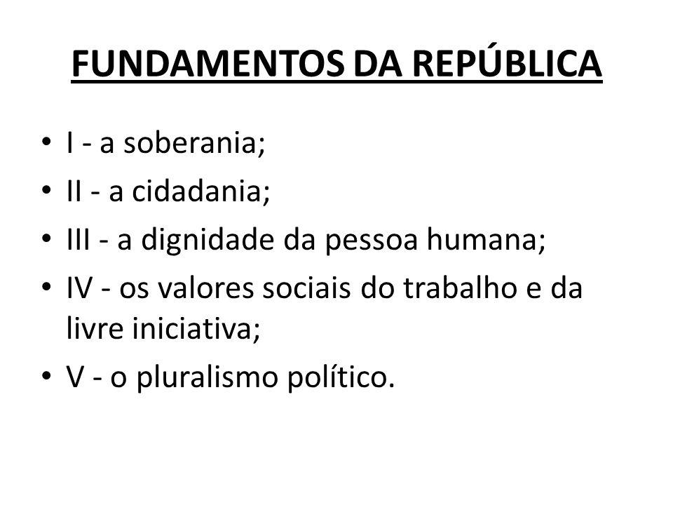 FUNDAMENTOS DA REPÚBLICA