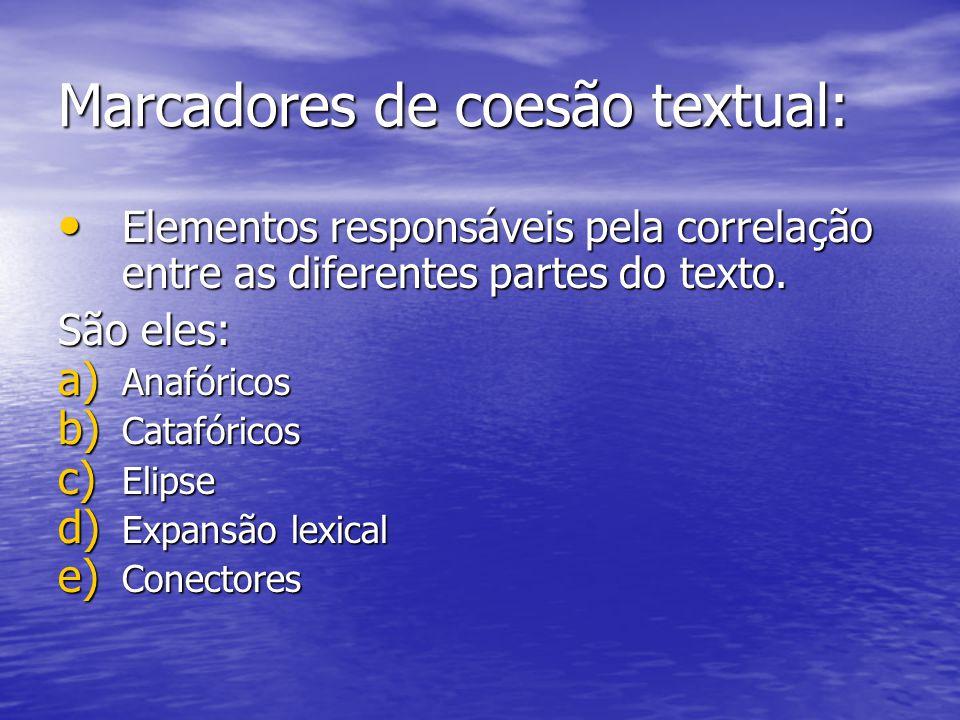Marcadores de coesão textual: