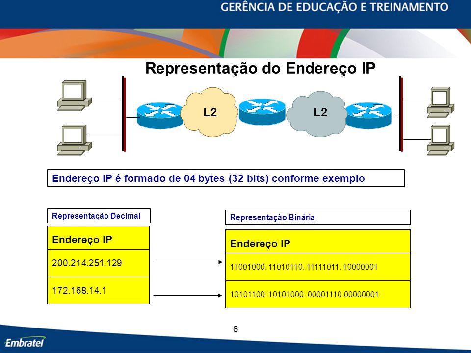 Representação do Endereço IP