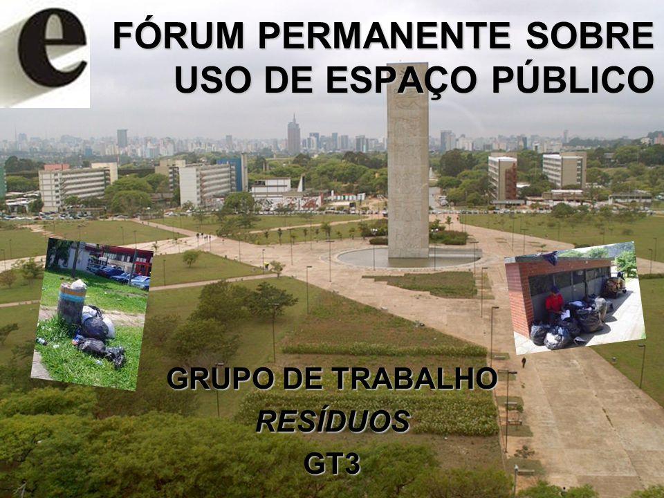 FÓRUM PERMANENTE SOBRE USO DE ESPAÇO PÚBLICO