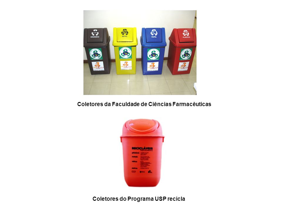 Coletores do Programa USP recicla