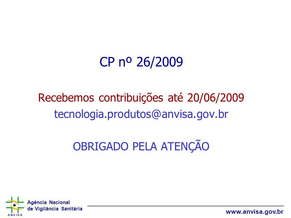 Recebemos contribuições até 20/06/2009