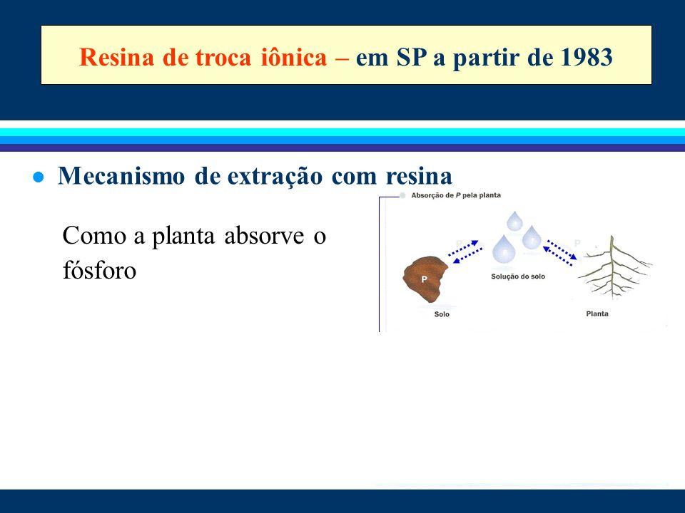 Resina de troca iônica – em SP a partir de 1983