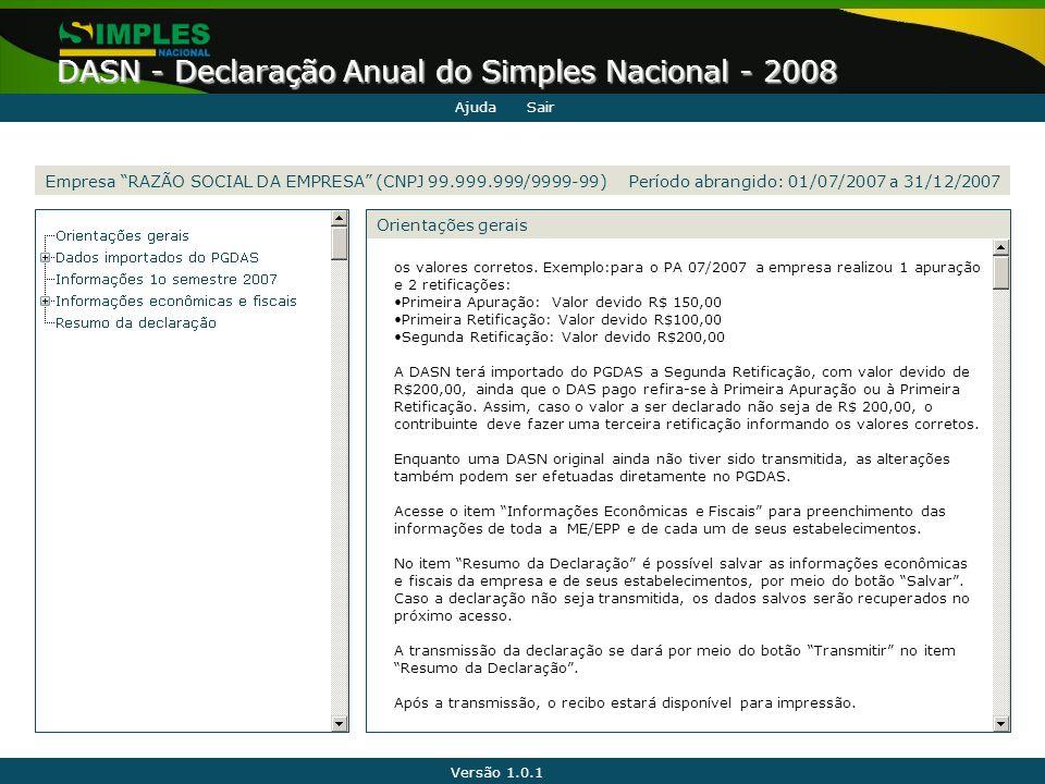 Empresa RAZÃO SOCIAL DA EMPRESA (CNPJ 99.999.999/9999-99)
