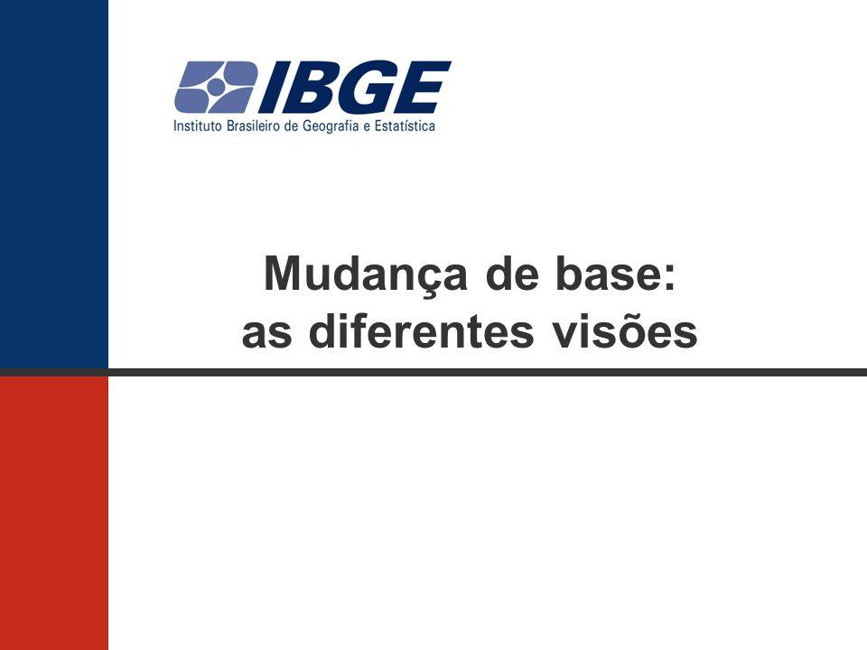 Mudança de base: as diferentes visões