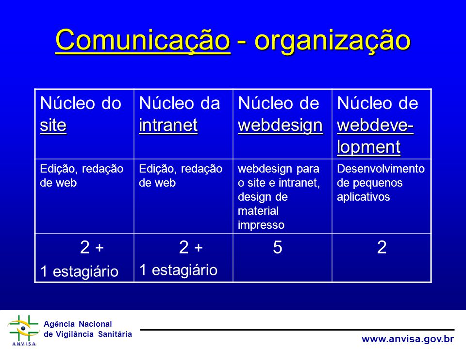 Comunicação - organização