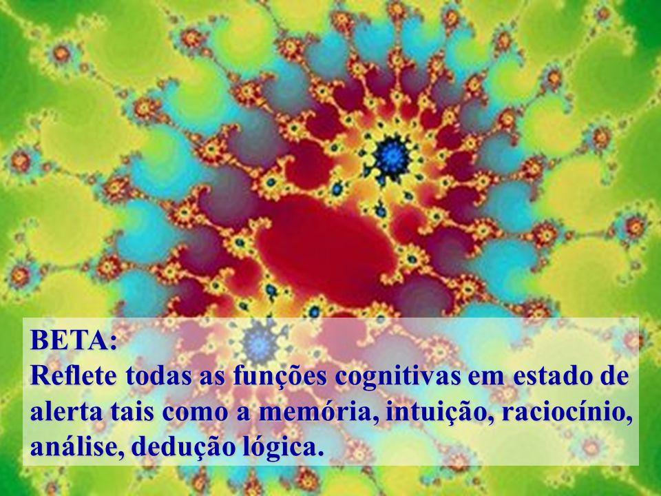 BETA: Reflete todas as funções cognitivas em estado de. alerta tais como a memória, intuição, raciocínio,