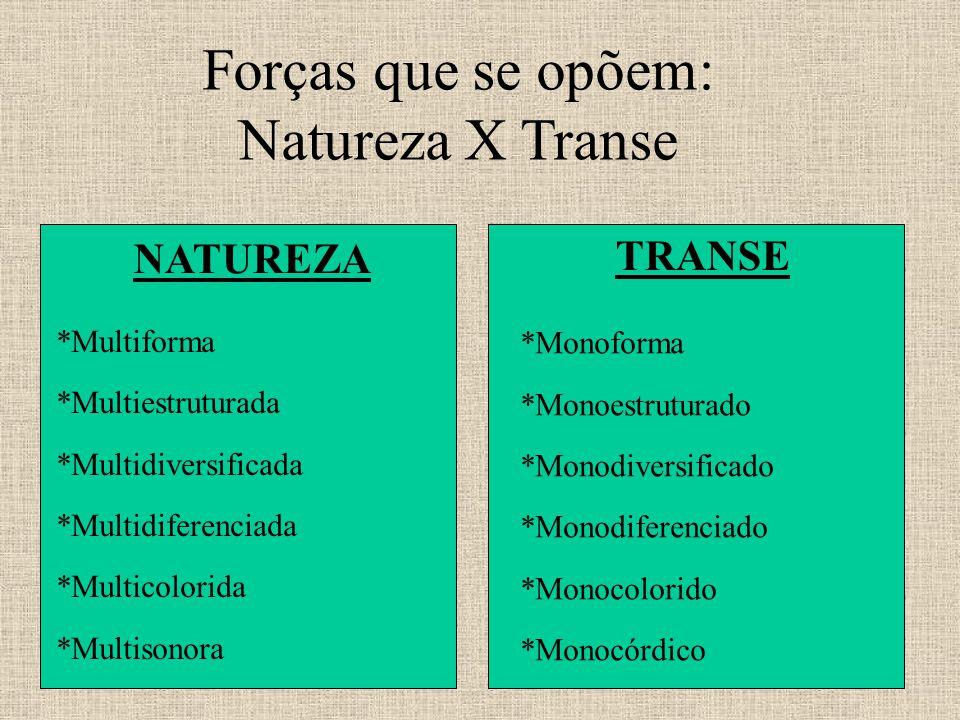 Forças que se opõem: Natureza X Transe NATUREZA TRANSE *Multiforma