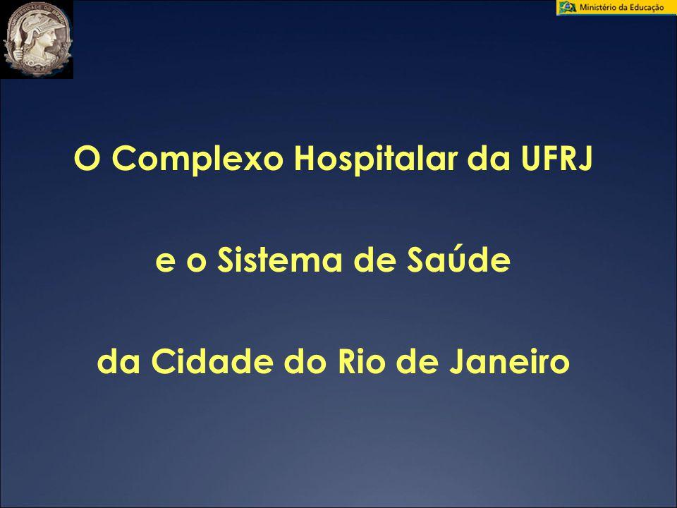 04/28/09 O Complexo Hospitalar da UFRJ e o Sistema de Saúde da Cidade do Rio de Janeiro 22