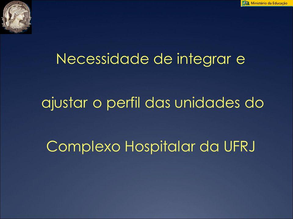 04/28/09 Necessidade de integrar e ajustar o perfil das unidades do Complexo Hospitalar da UFRJ