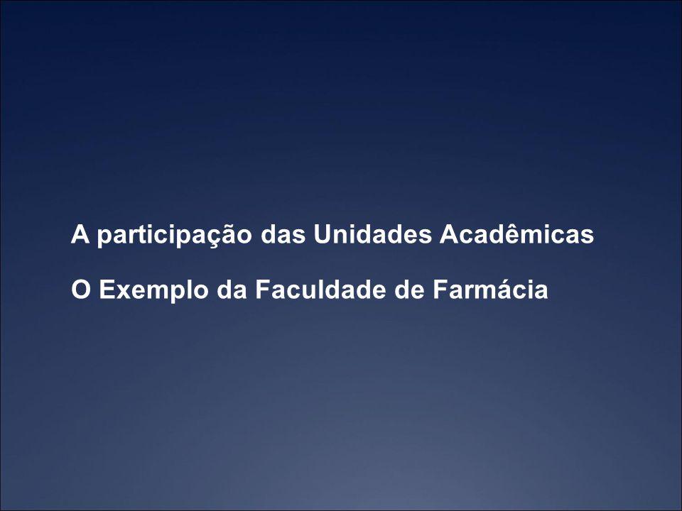 A participação das Unidades Acadêmicas