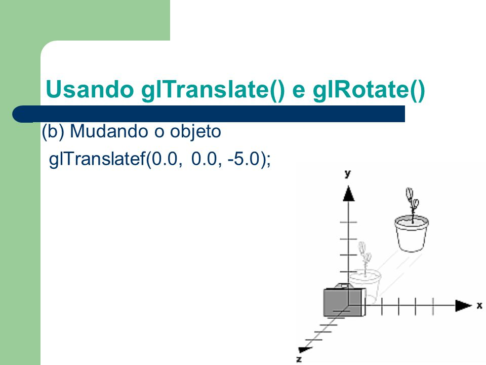 Usando glTranslate() e glRotate()