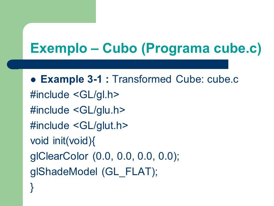 Exemplo – Cubo (Programa cube.c)
