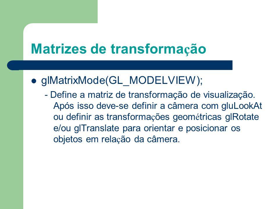 Matrizes de transformação