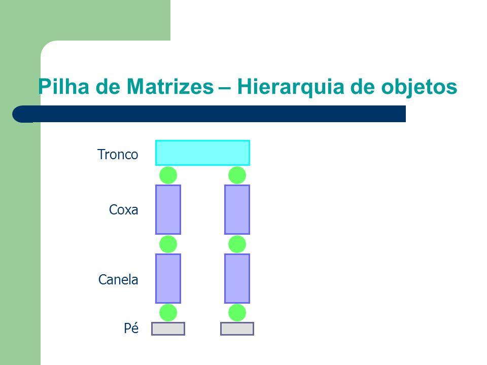 Pilha de Matrizes – Hierarquia de objetos