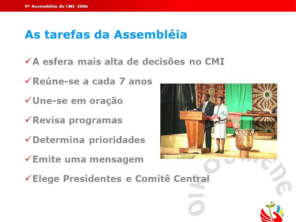 As tarefas da Assembléia