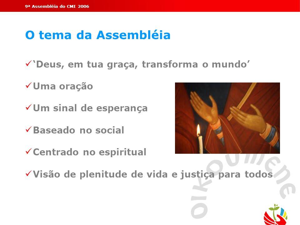 O tema da Assembléia 'Deus, em tua graça, transforma o mundo'