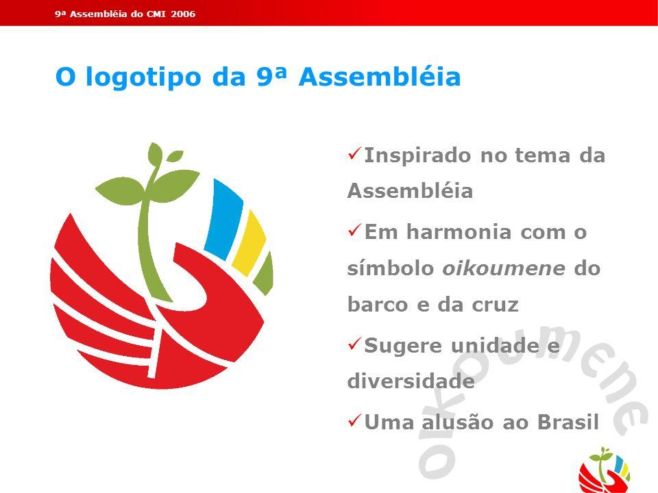 O logotipo da 9ª Assembléia