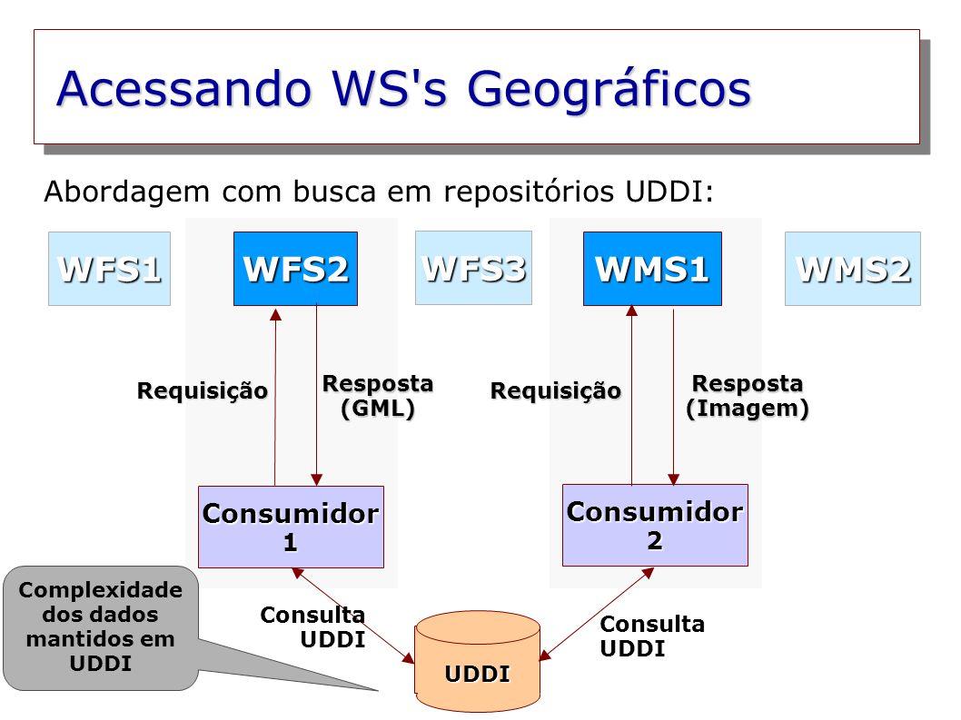 Complexidade dos dados mantidos em UDDI