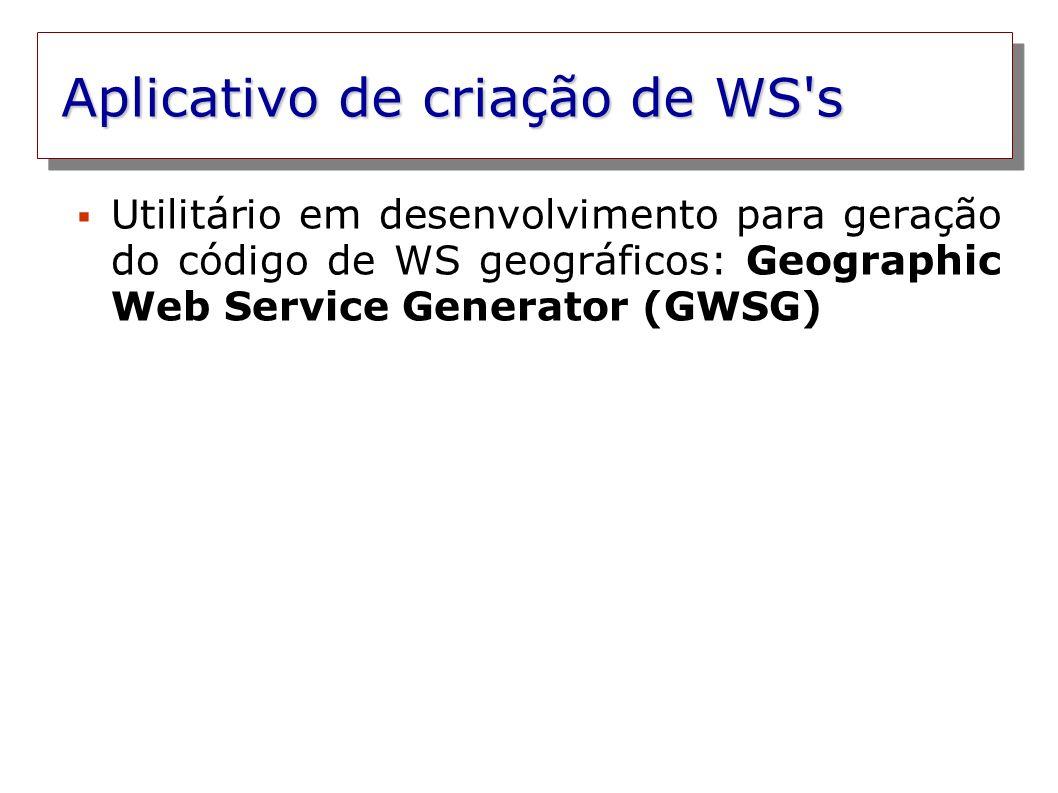 Aplicativo de criação de WS s