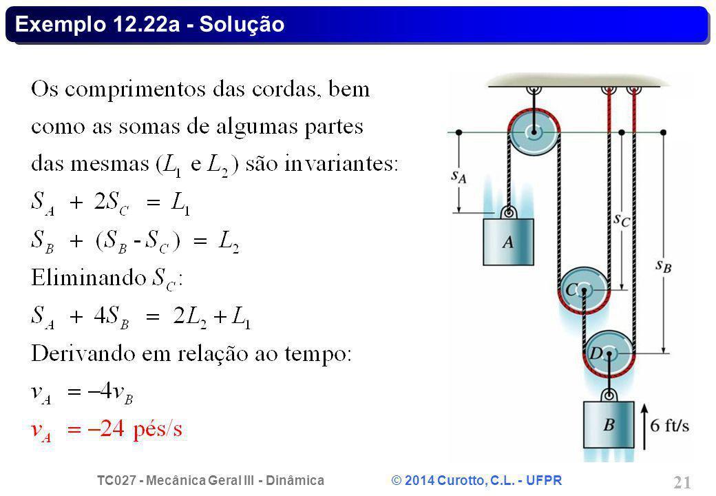 Exemplo 12.22a - Solução
