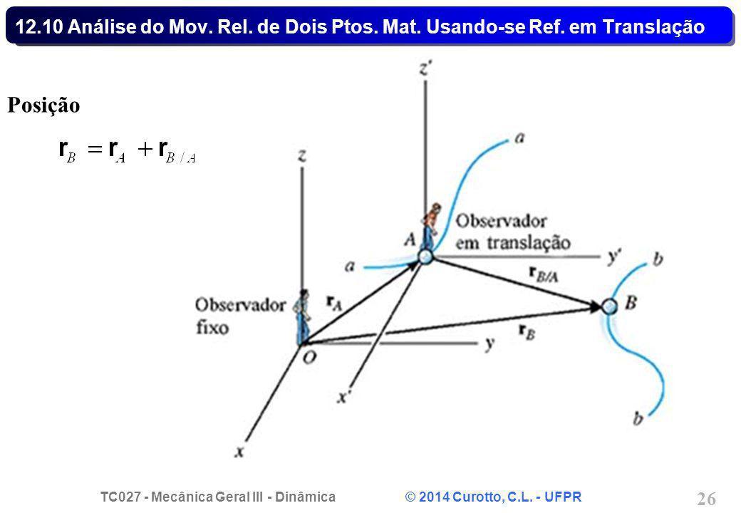 12. 10 Análise do Mov. Rel. de Dois Ptos. Mat. Usando-se Ref