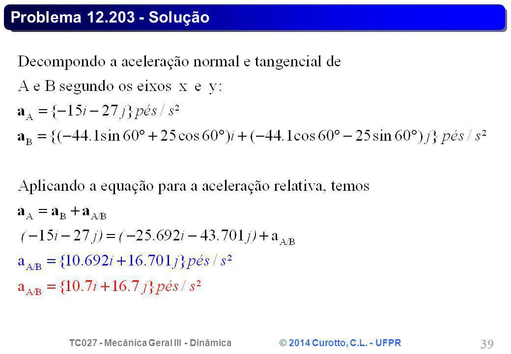 Problema 12.203 - Solução