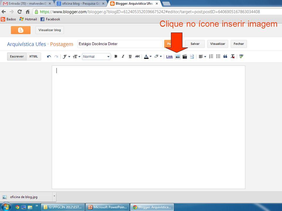 Clique no ícone inserir imagem