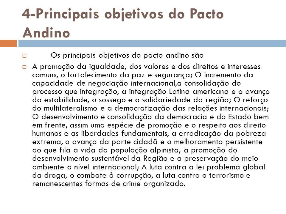4-Principais objetivos do Pacto Andino
