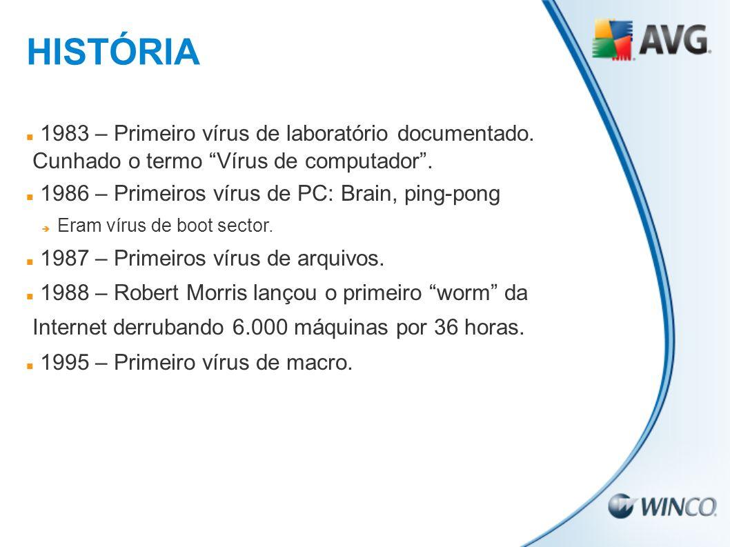 HISTÓRIA 1983 – Primeiro vírus de laboratório documentado.